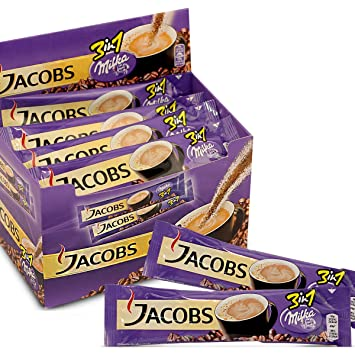 Jacobs 3in1 Instant Coffee Sticks Milka Chocolate Flavour