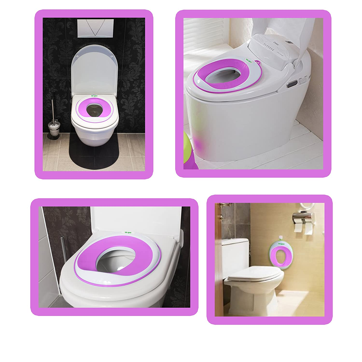 Kids Toilet Training Seat By Lebogner Purple Potty