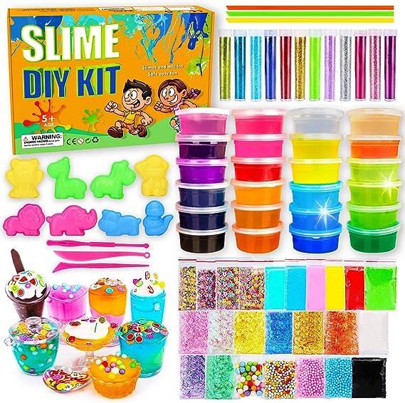 Art Craft Toys for Kids Foam Balls Slime Kit GTPHOM DIY Slime Making Kit Set for Girls Boys Ultimate Slime Supplies Include Glitter Unicorn Charms Accessories Fruit Slice