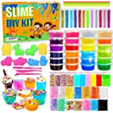 DIY Slime Kit-Ultimate Glow in The Dark Glitter Slime Making Kit- Slime Kit for 3 4 5 6 7 8 9 10 11 12 Year Old Girl and Boy