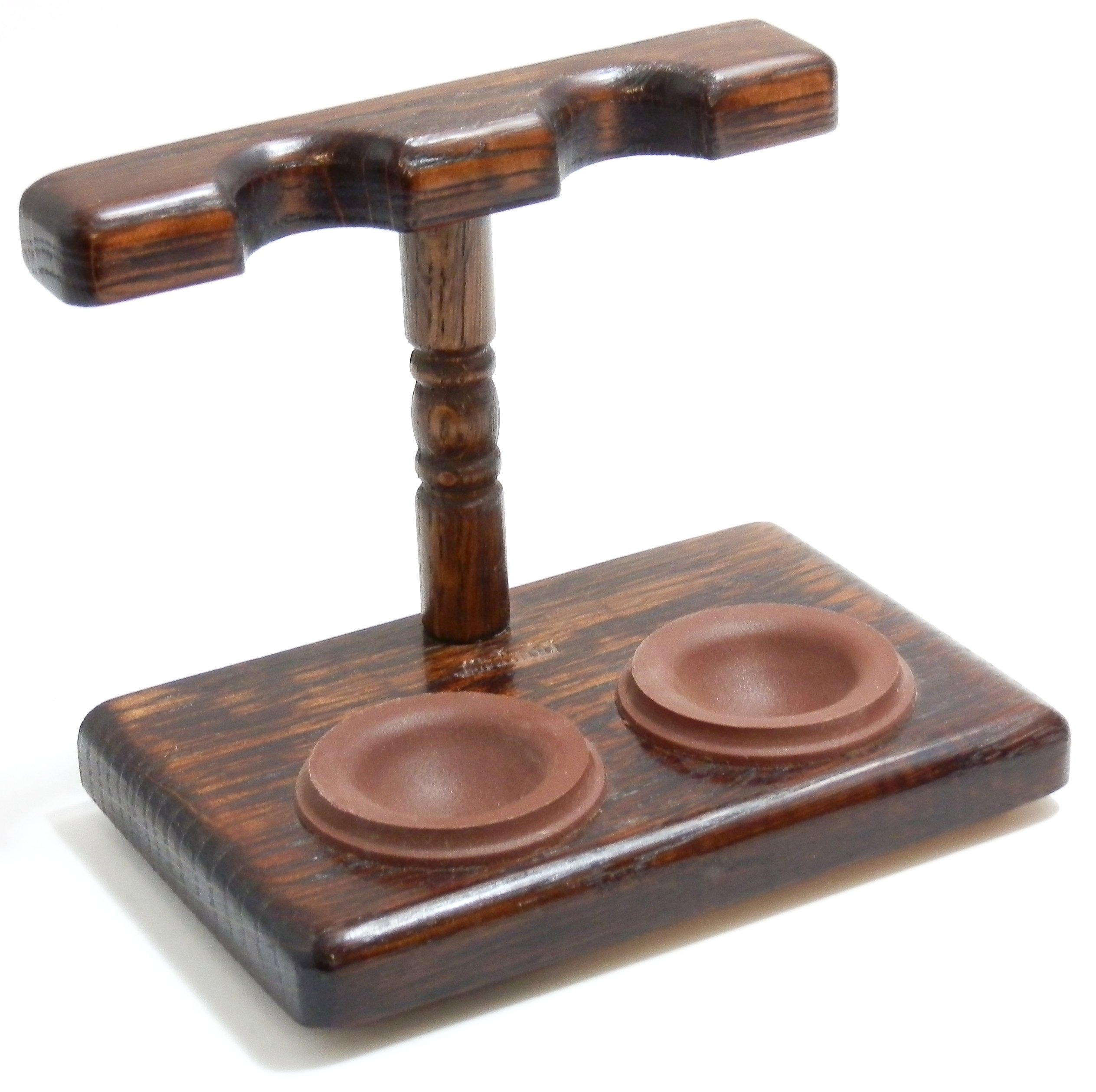 Tobacco Pipe Stand - 2 Pipe Stand - Polish Import