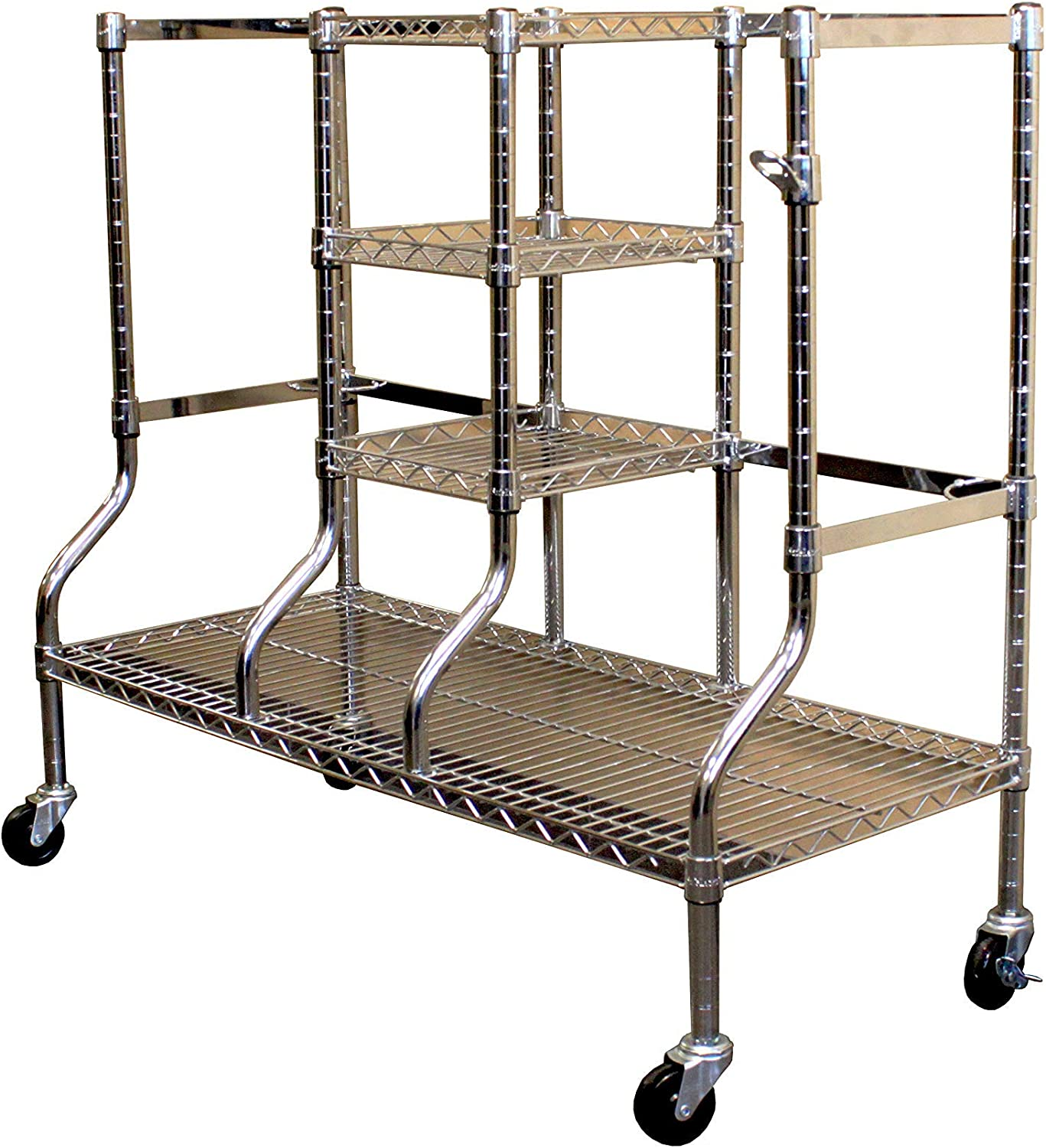 Saferacks Golf Equipment Organizer Rack Heavy Duty Steel Wire Shelf Extra Wide Fits 2 Extra Large Bags Plus Accessories Golf Rack Amazon Co Uk Sports Outdoors
