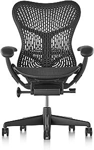 Herman Miller Mirra 2 Chair - Tilt Limiter and Seat Angle, TriFlex Back, Graphite - MRF123AWAPAJG1BBG1BK1A703 (Renewed)