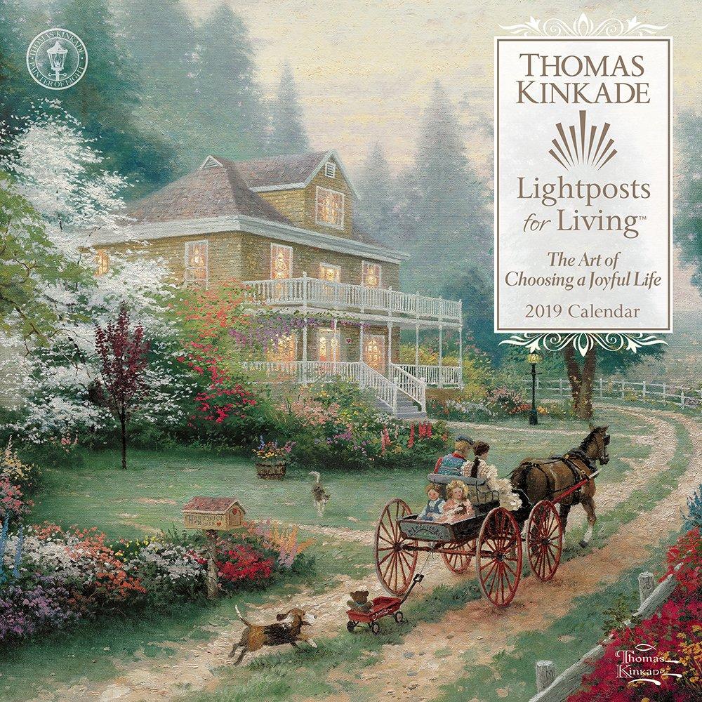 Thomas Kinkade Lightposts for Living 2019 Wall Calendar