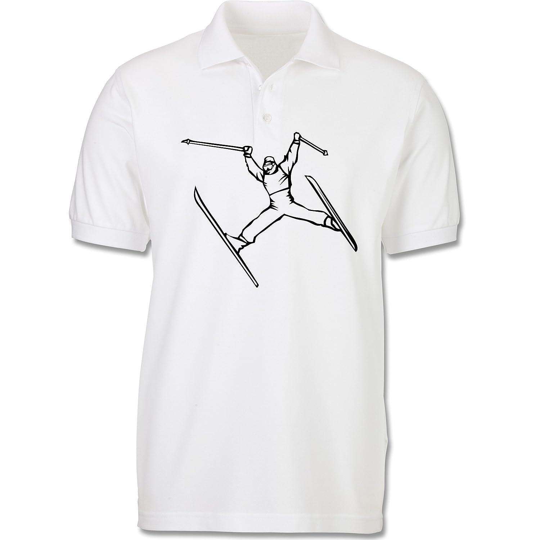 Sport Kind - Ski Jump - Poloshirt kurzarm Piqué aus Baumwolle für Mädchen und Jungen