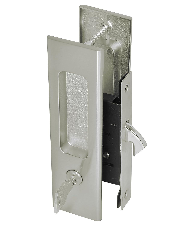 FREE SHIPPING Cavity Sliding door Lock Entrance Set SATIN FINISH FREE POSTAGE