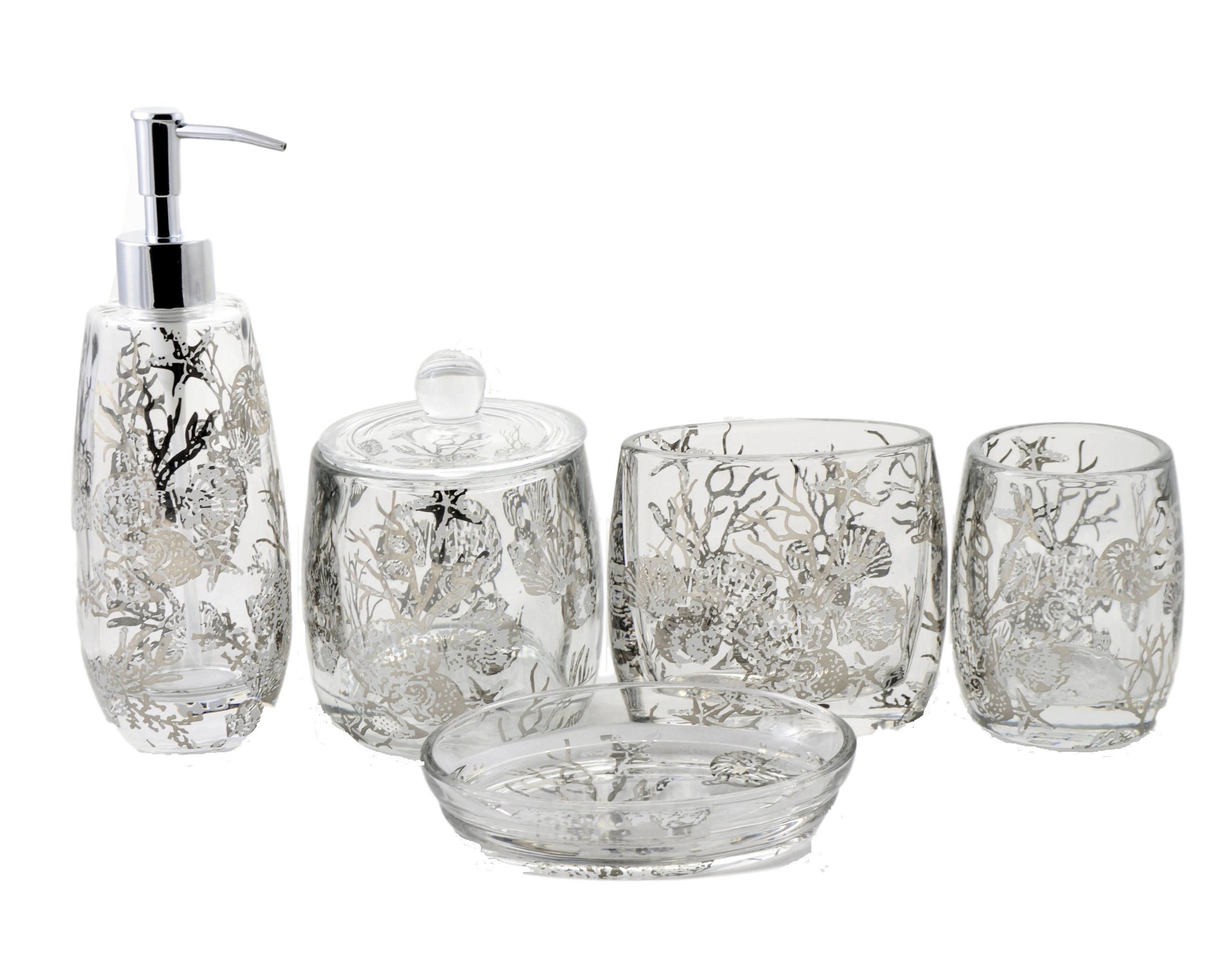 Nature Home Decor Model 375-12349 Glass Bath and Spa Accessories Set of Antlers Collection