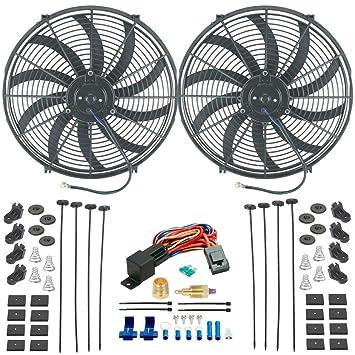 """American V Dual 16 pulgadas Radiador eléctrico ventiladores de refrigeración 1/2 """"3"""