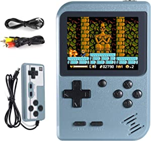 Imponigic Handheld Game Console,Retro Game Console for Kids and Adult with 500 Classic Handheld Games, Supporting 2 Players & TV Connection, 1020mAh Rechargeable Battery