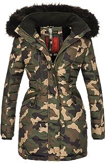 d53c062e22b070 Navahoo Damen Winter Jacke Mantel Parka warm gefütterte Winterjacke B379