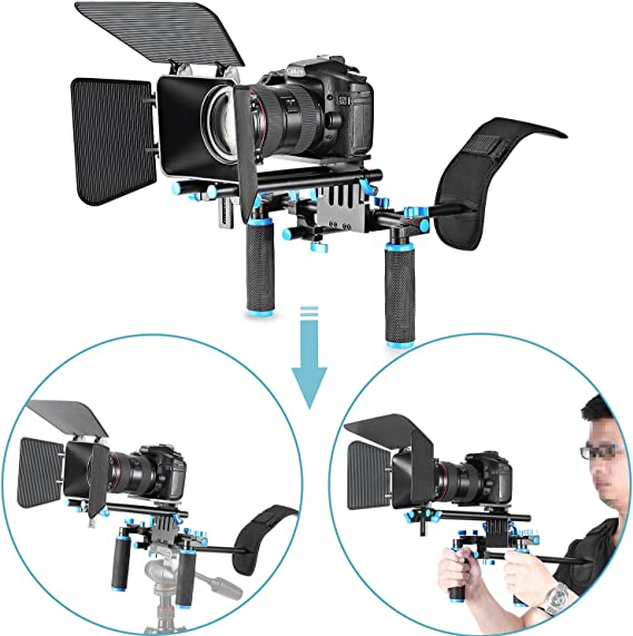 Neewer DSLR Movie Video Making Rig Set System Kit for Camcorder or DSLR Camera Such as Canon Nikon Sony Pentax Fujifilm Panasonic
