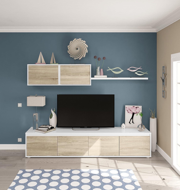 Habitdesign 0F6663A - Mueble de salón moderno, modulos ...