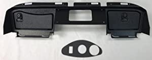 GMT Inc E-Z-Go RXV Full Golf Cart Dash in Black to Fit 2nd Generation RXV Cart (Will Not FIT 1st Generation RXV Cart) (Will Not Fit Any TXT Models) Includes 3 Hole Gauge Trim Plate