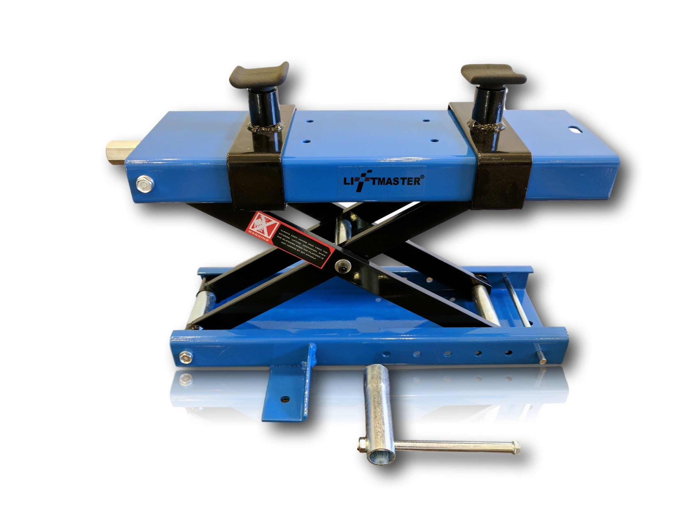 LiftMaster 1100 LB Motorcycle Center Scissor Lift Jack with Safety Pin Hoist Stand Bikes ATVs by LiftMaster (Image #2)