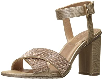ef228005b5f Kenneth Cole REACTION Women s Crash Glitzy X-Band Strap with Mini Jewels on  High Heel