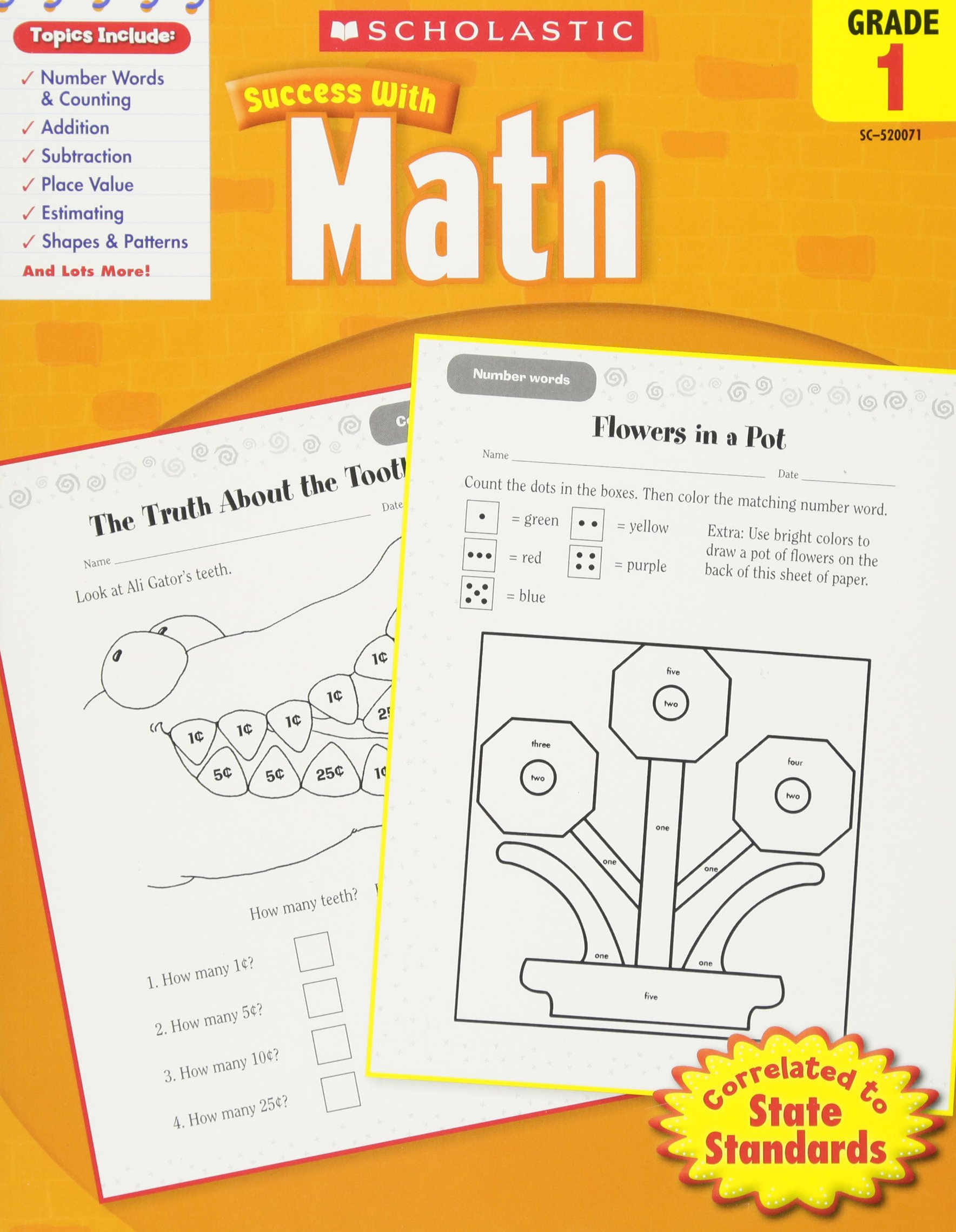 Scholastic Success with Math, Grade 1 (Scholastic Success with Workbooks:  Math) Paperback – March 1, 2010