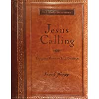 Jesus Calling (Large Print Leathersoft): Enjoying Peace in His Presence (with Full Scriptures)