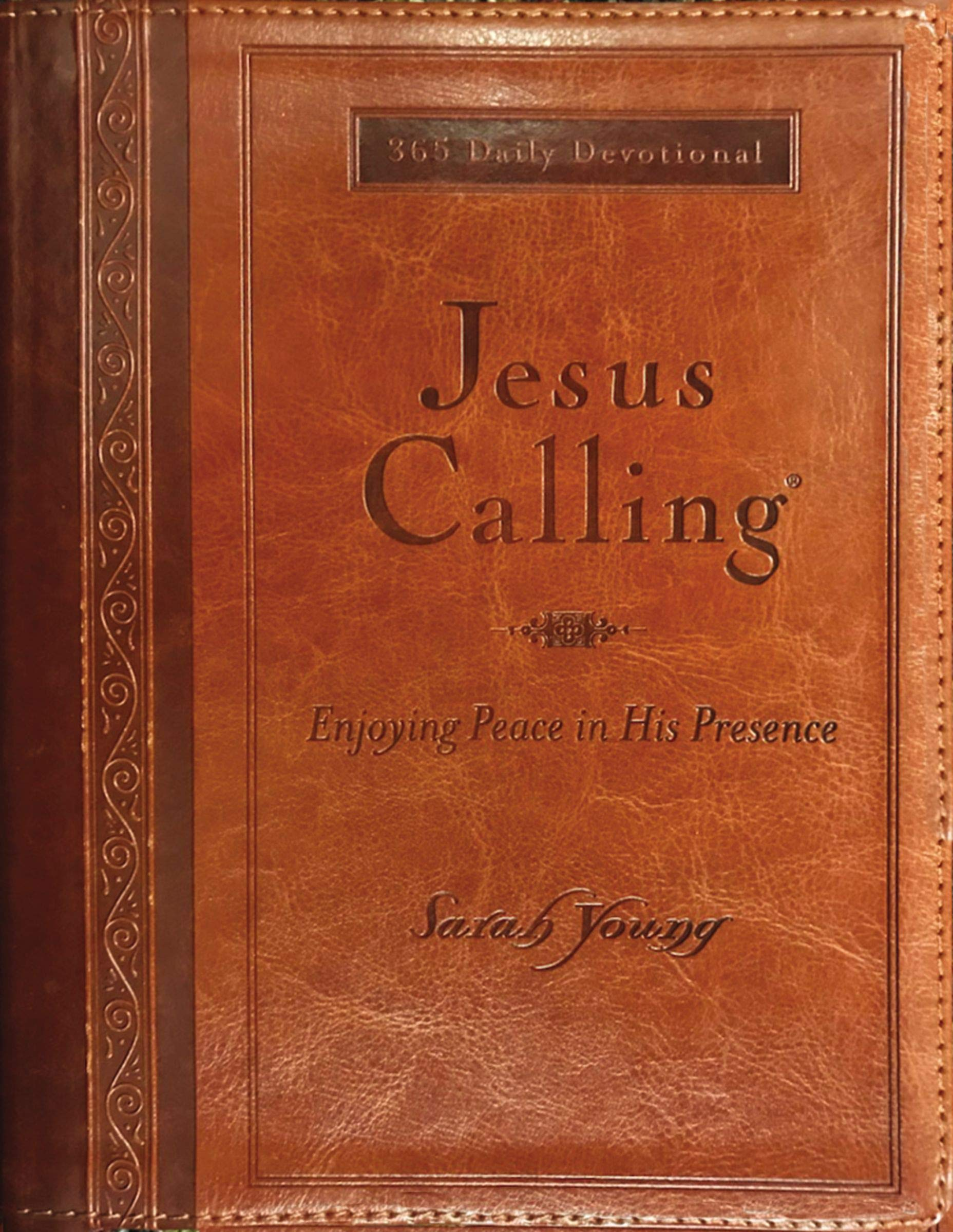 Jesus Calling (Large Print Leathersoft): Enjoying Peace in