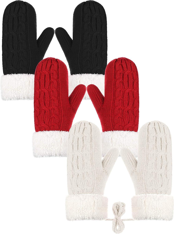 3 Pairs Women Winter Wool...