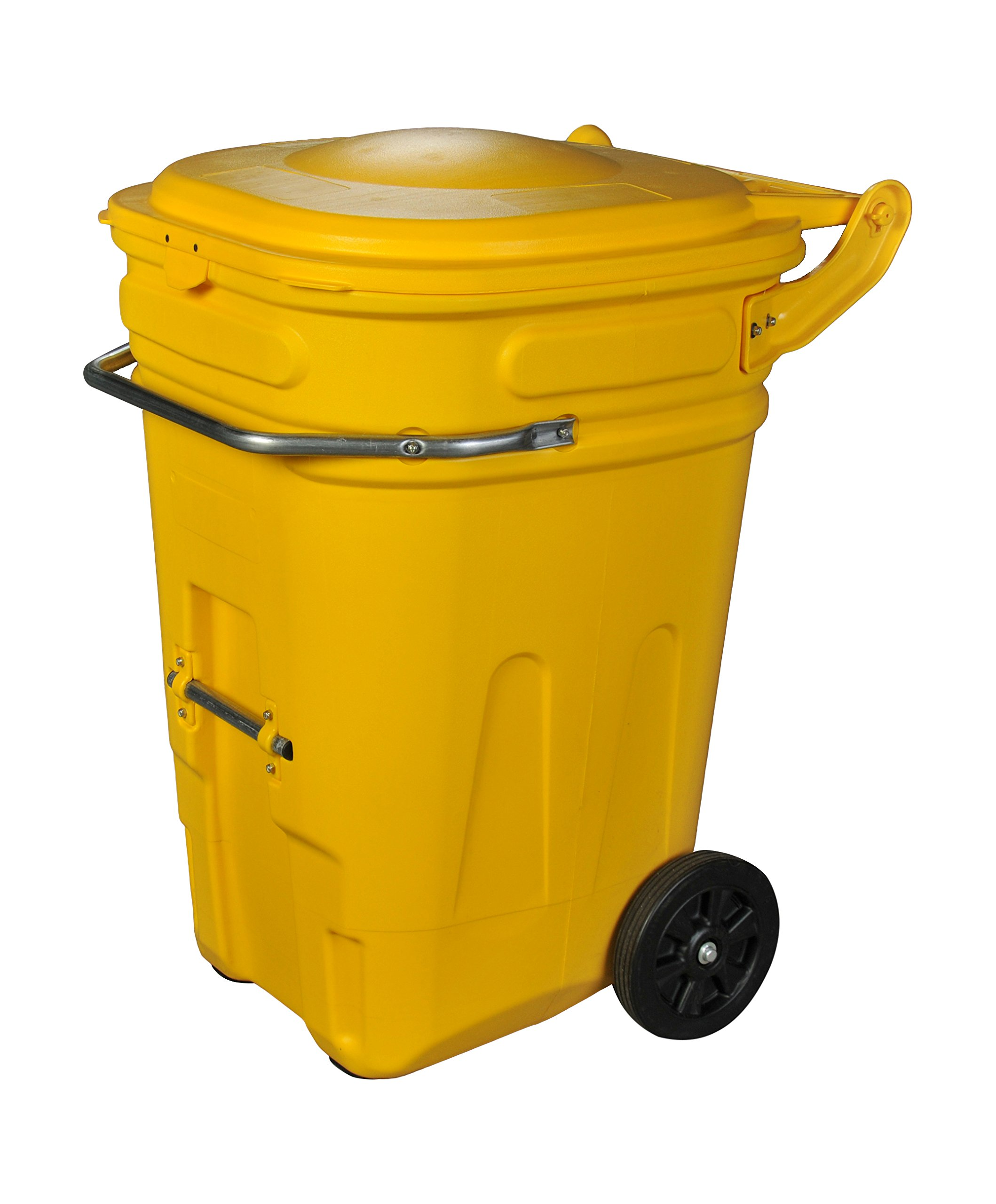 Eagle 1697Y Wheeled Spill Kit e-Cart with Lid, 95 gal, Yellow