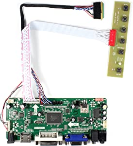 "HDMI+VGA+DVI+Audio Input LCD Controller Board For LP140WH1 LP156WH2 11.6'' 14"" 15.6"" 1366x768 LED 40Pins LCD Panel"