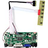"""HDMI+VGA+DVI+Audio Input LCD Controller Board For LP140WH1 LP156WH2 11.6'' 14"""" 15.6"""" 1366x768 LED 40Pins LCD Panel"""