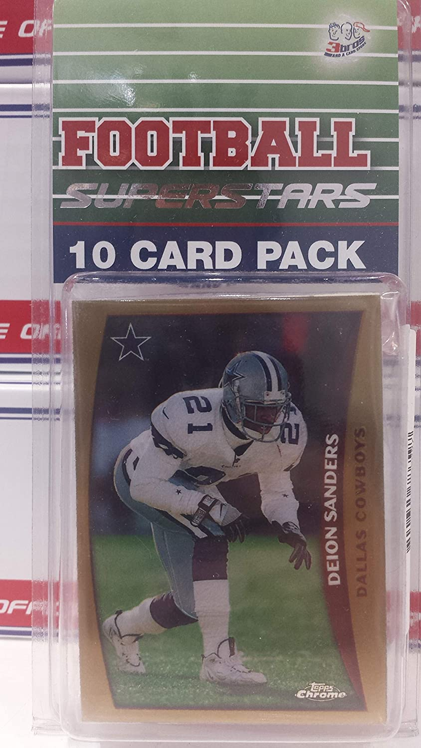 a35c12e6bb4 10 card pack nfl football superstar deion sanders starter kit all different  cards at Amazon's Sports Collectibles Store