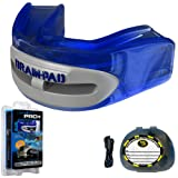 Brain-Pad Pro+ Men's Dual Channel Jaw Joint Protector Mouth Guard - Blue/Grey, Size 2