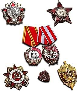 Más Alto Soviética militar medallas selección   7 x medalla/insignia   Elite premio antiguo reproducción URSS colección: Amazon.es: Deportes y aire libre
