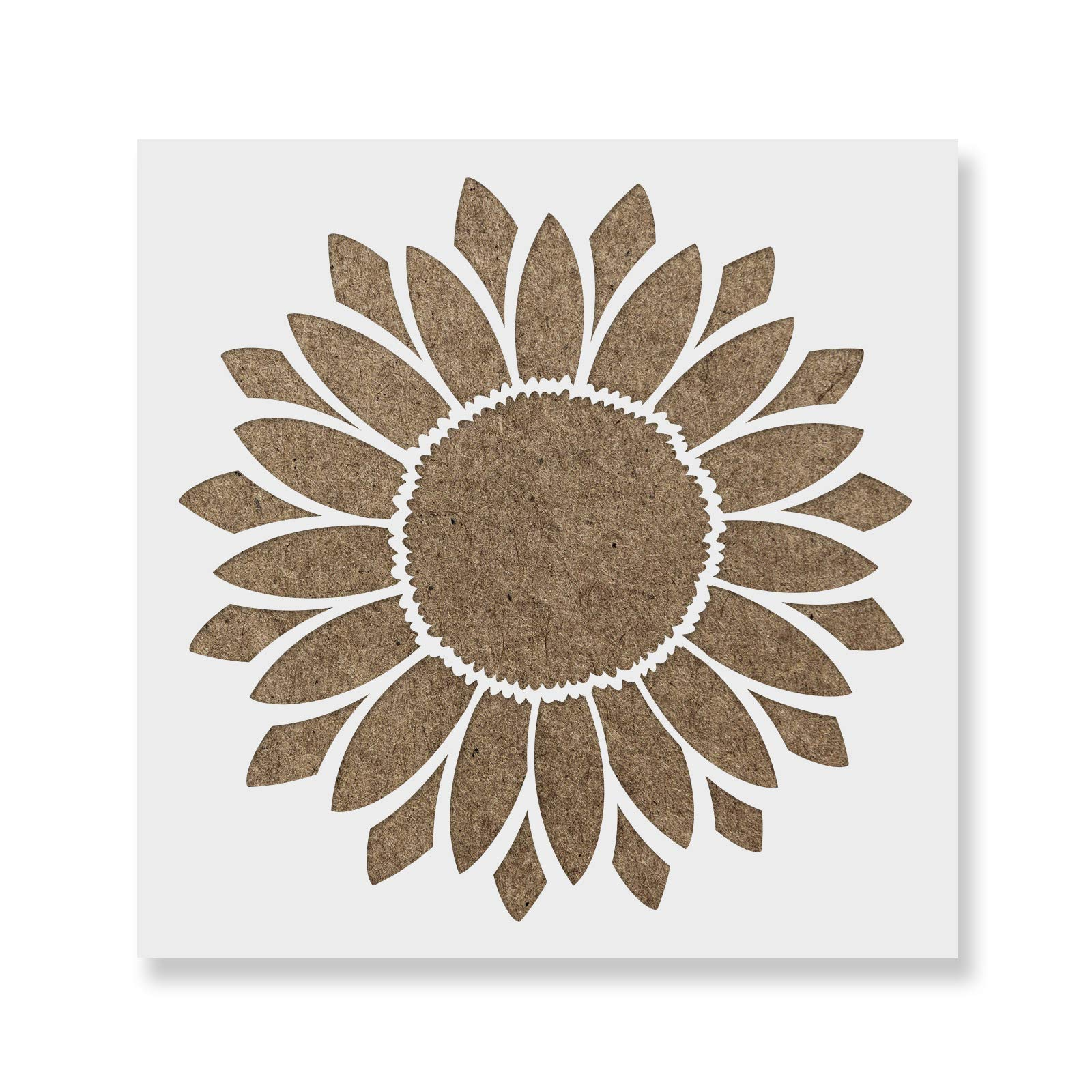 Sunflower Stencil Template for Walls and Crafts - Reusable Stencils for Painting in Small & Large Sizes