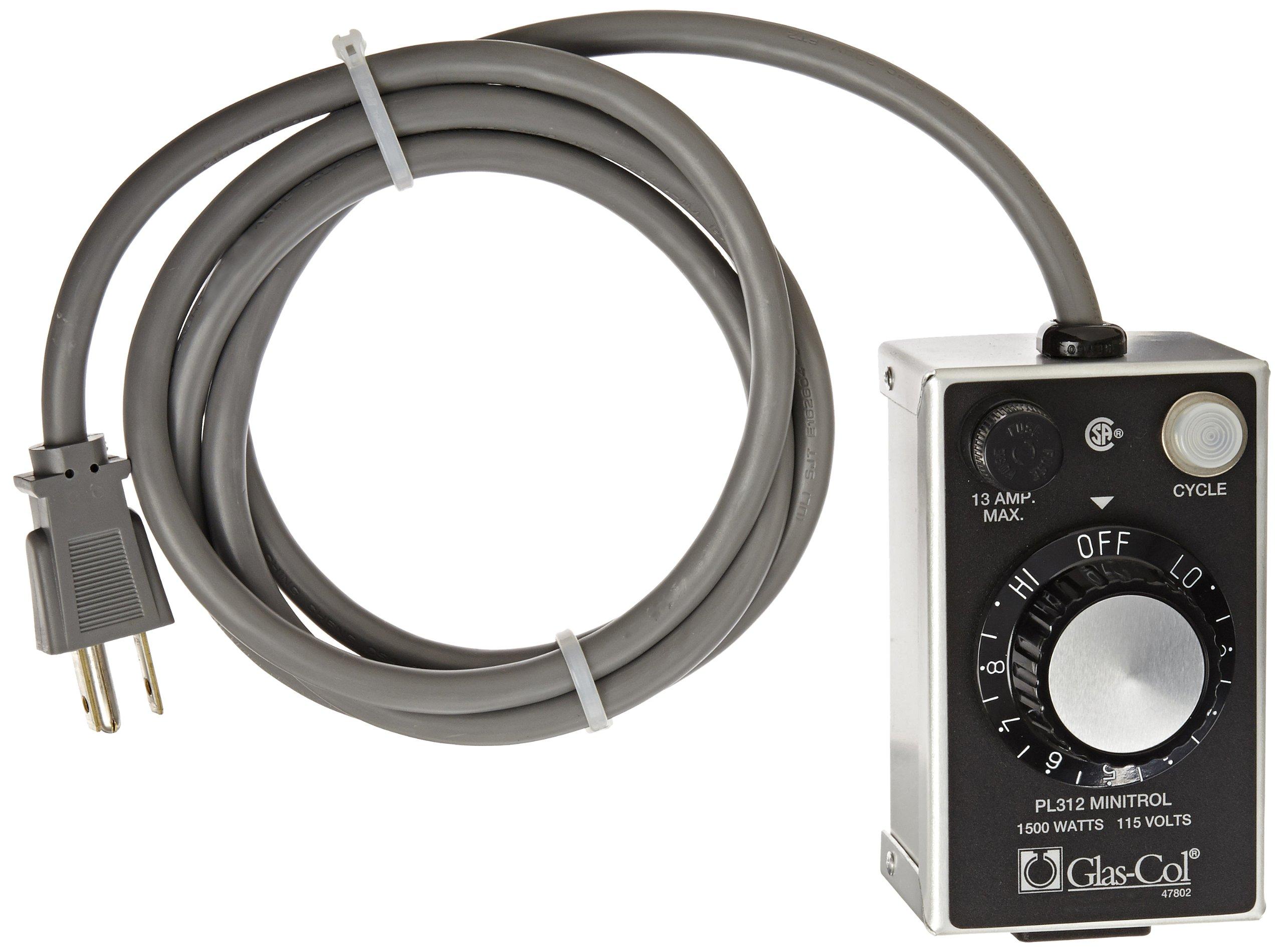 Glas-Col 104A PL312 MiniTrol Temperature Control, 120V, 1440W Capacity
