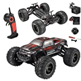 HOSIM All Terrain RC Car S911, 33+MPH 1/12 Scale Radio Controlled Electric Car - Offroad 2.4Ghz 2WD Remote Control Truck - Best Christmas Gift for Kids and Adults (Red)