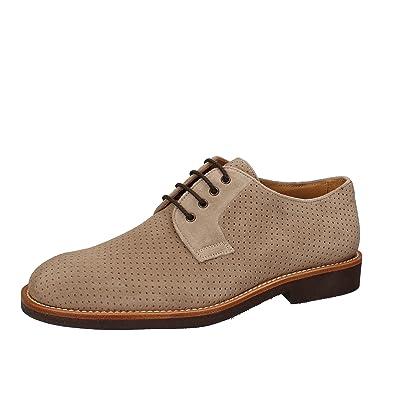 DI MELLA Men Oxford Shoe / Elegant Beige Suede AD228 (9.5 US / 42.5 EU)