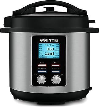 Gourmia GPC855 8-Quart Pressure Cooker (Stainless Steel)