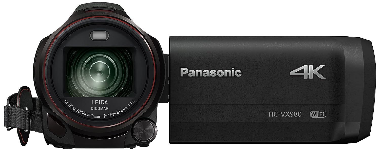 Panasonic HC-VX980EG-K - Videocámara de 18.91 MP (MOS BSI, 25,4/2,3 mm (1/2.3), 4,08-81,6 mm, tarjeta de memoria, 4K Ultra HD), Color Negro