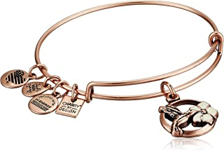 product image for Alex and Ani Women's Hummingbird II Bracelet, Rafaelian Antique Rose, Expandable