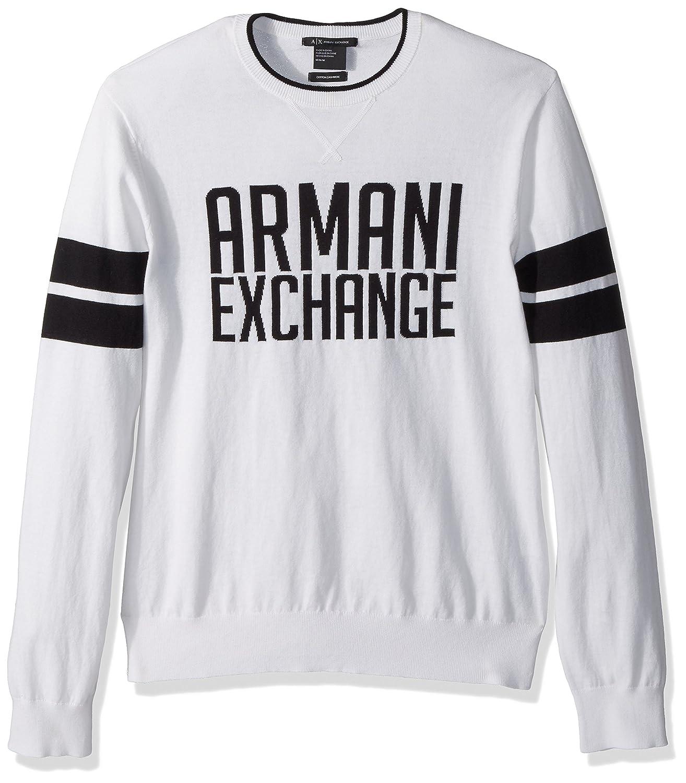 enfant aspect esthétique 100% authentique A|X Armani Exchange Men's Ax Logo Cashmere Pull Over