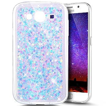 Ukayfe Carcasa Galaxy Grand NEO i9060,Bling Glitter Sparkle Brillantes Funda, Slim Suave Silicona TPU Case con Bumper para Samsung Galaxy Grand ...