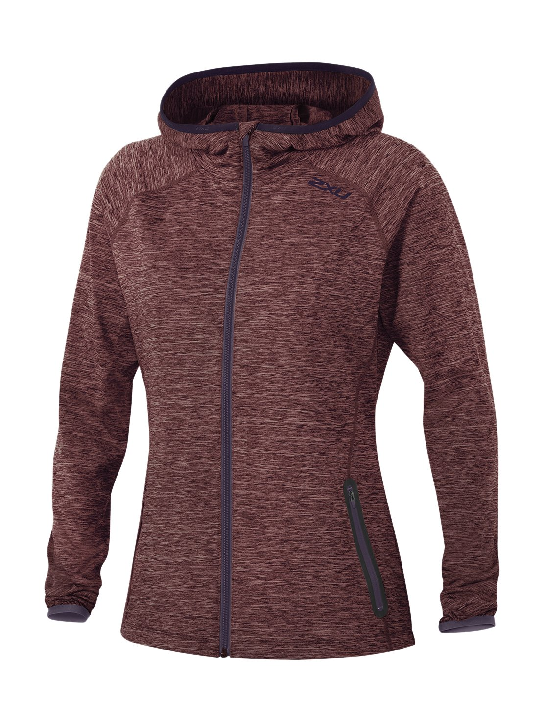 Carbon Purple Mars Red 2XU Women's Movement Form Hoodie