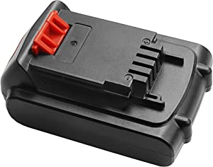 LBXR20 Battery 2000mAh Replacement for Black and Decker 20V Battery Max LB20 LBX20 LBXR2020 LBX4020 LB2X4020-OPE LBXR20-OPE Battery, Compatible with Black & Decker Cordless Power Tools