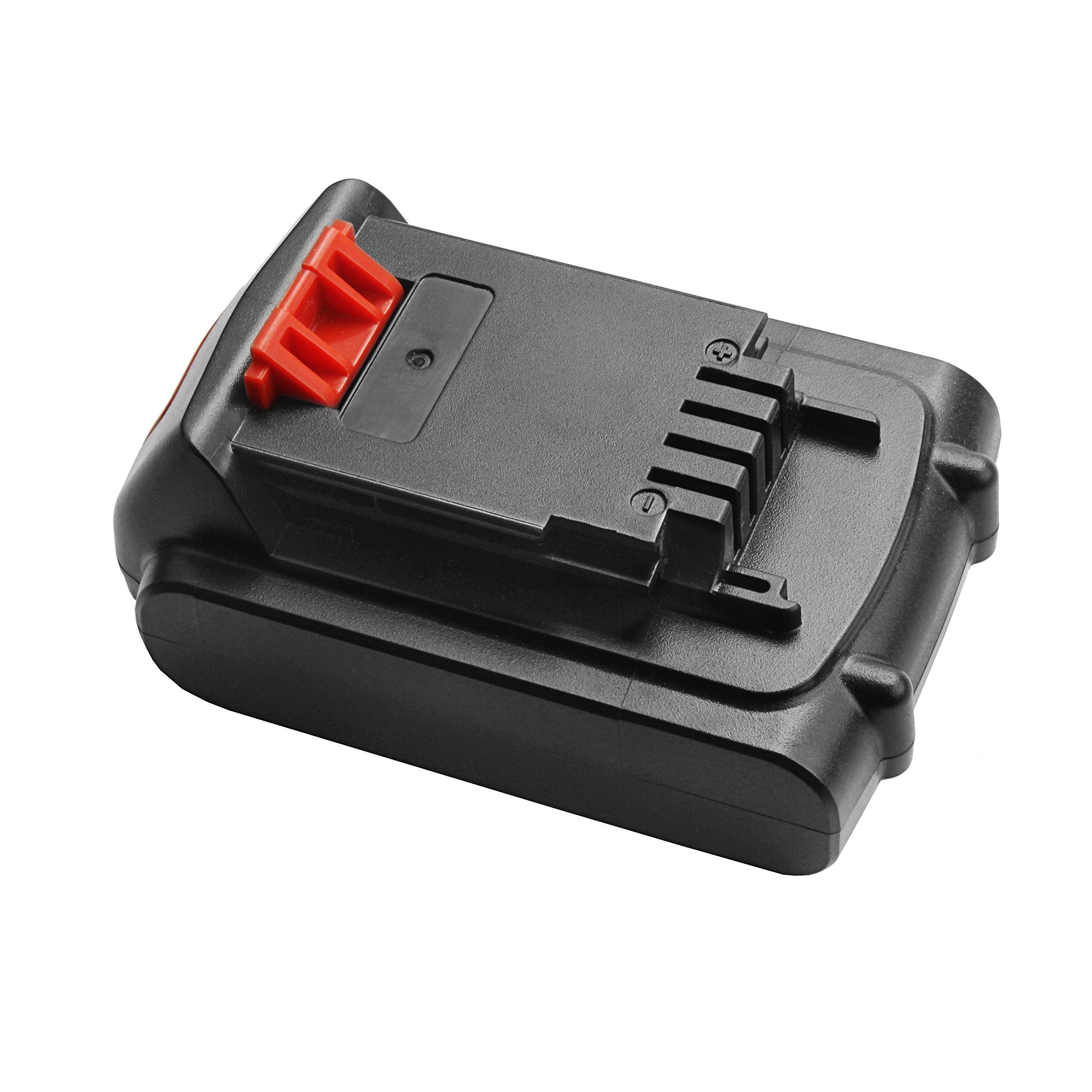 Turpow 20V 2.0Ah Lithium Ion Replacement Battery for Black & Decker 20 Volt MAX LBXR20 LB20 LBX20 LBXR2020-OPE LBXR20B-2 LB2X4020 Cordless Tool Battery