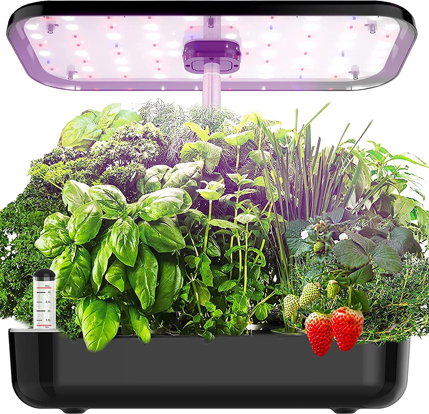 Hydroponics Growing System, EZORKAS 12 Pods Indoor Herb Garden Starter Kit with LED Grow Light, Smart Germination Kit Garden Planter for Family Home Kitchen with Cycle Timing Function