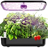 Hydroponics Growing System, EZORKAS 12 Pods Indoor Herb Garden Starter Kit with LED Grow Light, Smart Germination Kit Garden