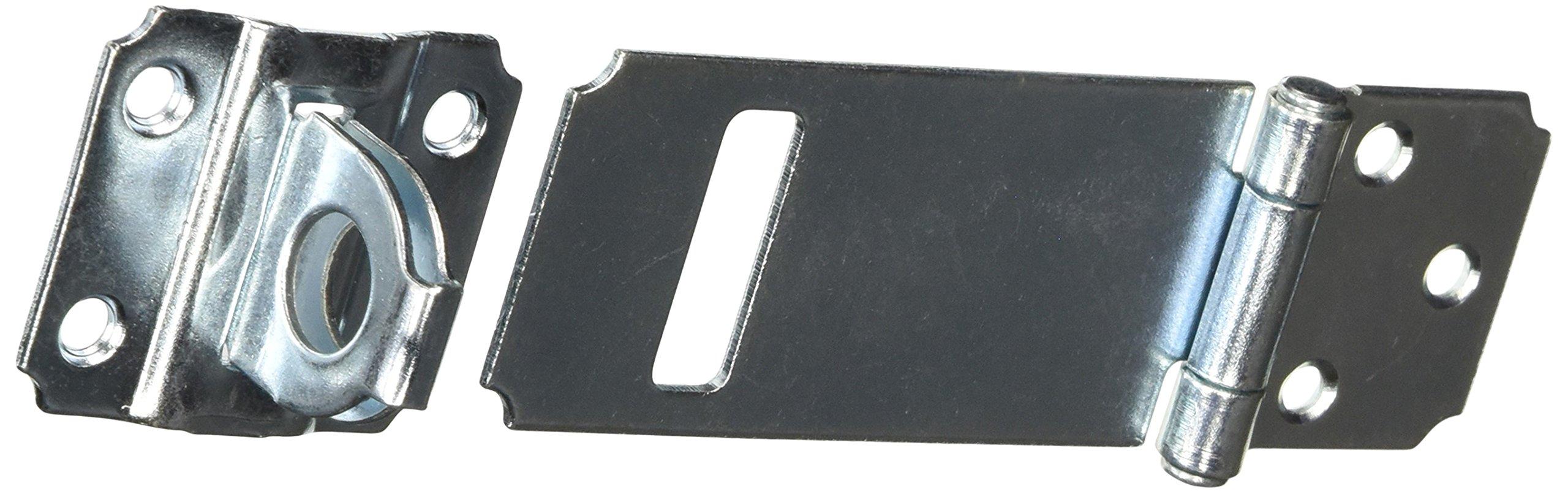 MINTCRAFT LR-123-BC3L Adjustable Staple Safety Hasp, Zinc, 3-1/2-Inch