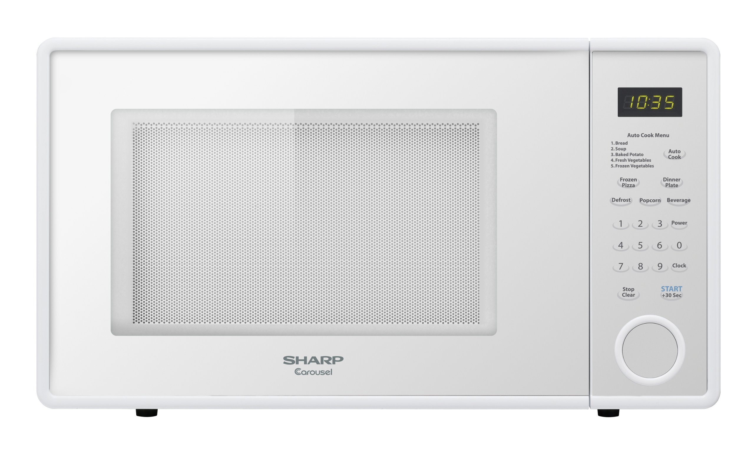 Sharp R-309YW Microwave (1.1 cu.ft.), White, Standard by Sharp