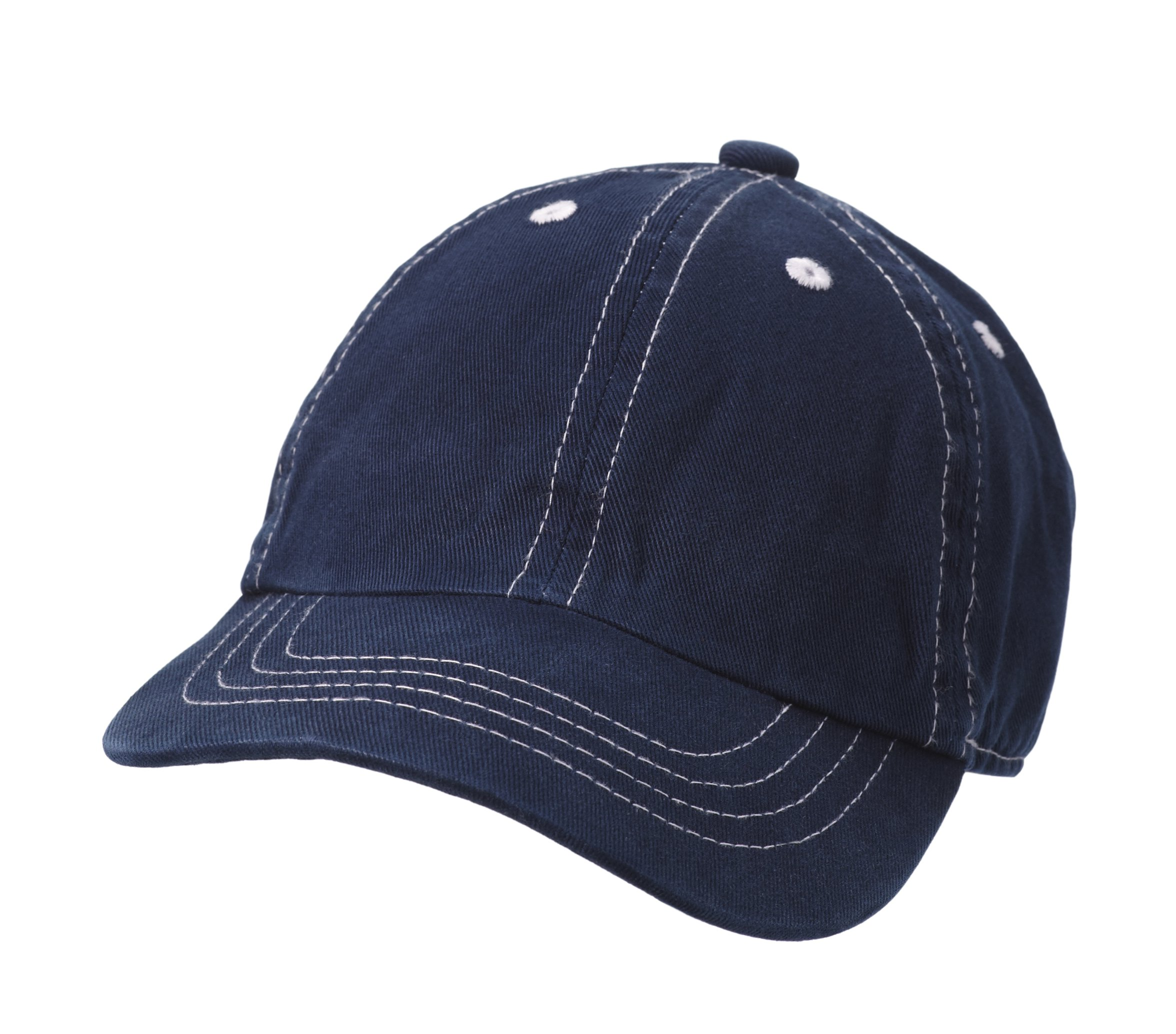 City Threads Baby Solid Baseball Hat Sun Protection SPF Beach Summer - Navy - S(0-6M) by City Threads (Image #1)