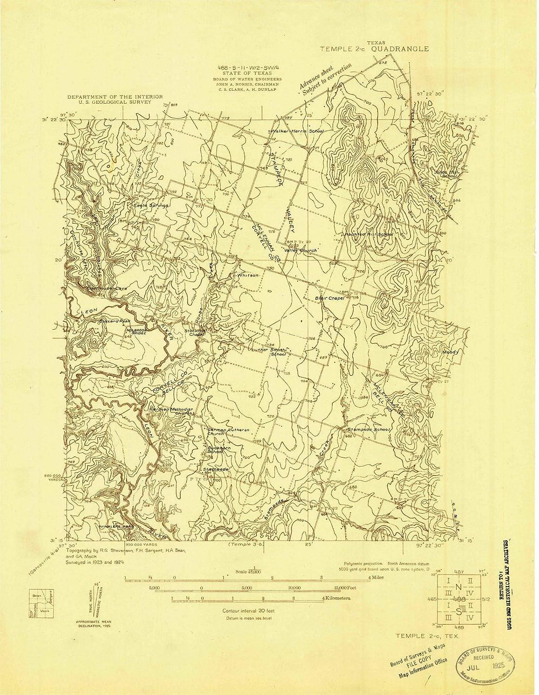 Amazon Com Historic Pictoric Texas Maps 1924 Temple 2 Tx
