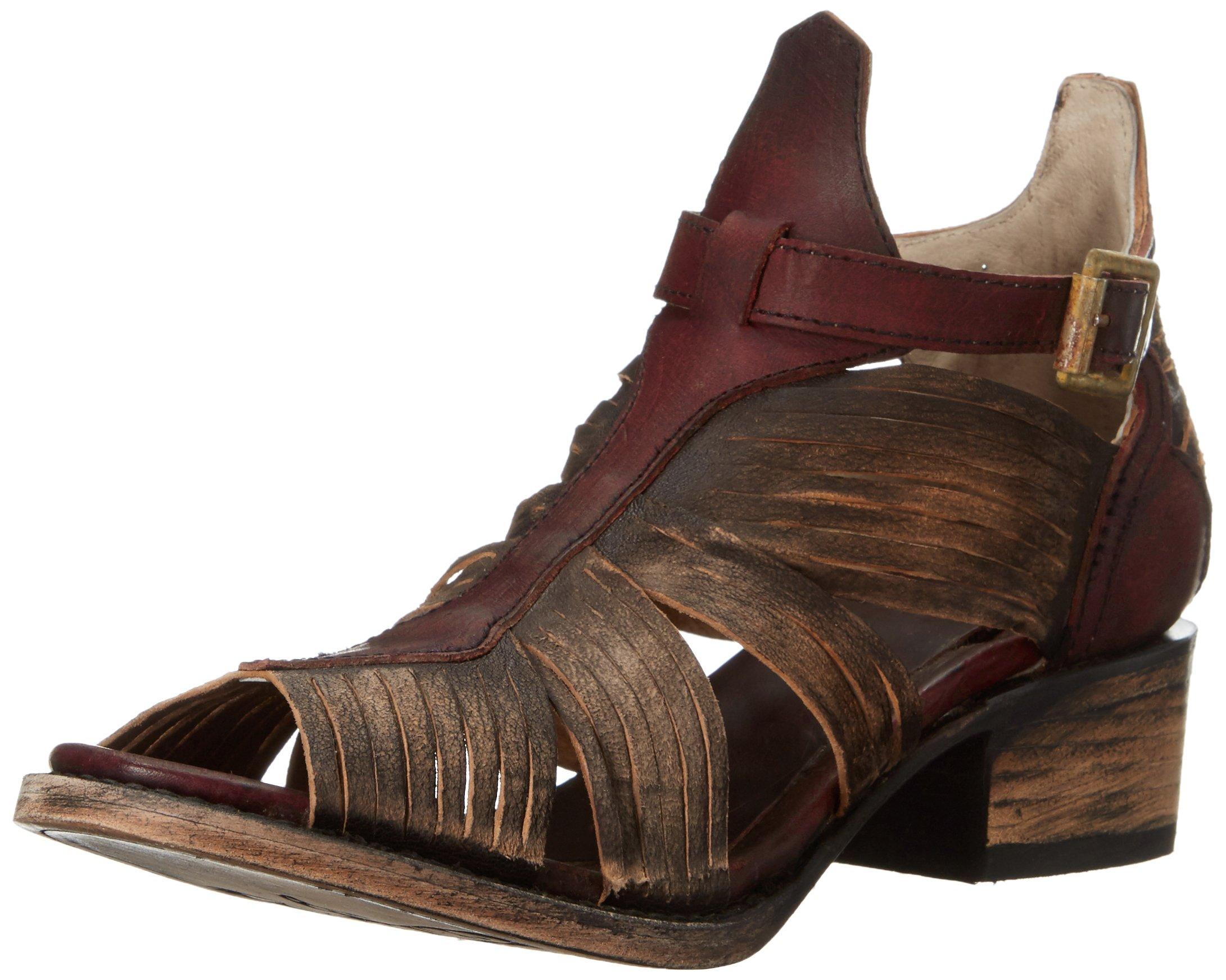 Freebird Women's Arrow Huarache Sandal, Brown/Multi, 8 M US