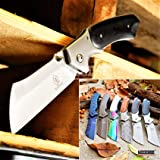 KCCEDGE BEST CUTLERY SOURCE Cleaver Pocket Knife Camping Accessories Razor Sharp Edge Blade EDC Folding Knife Camping…