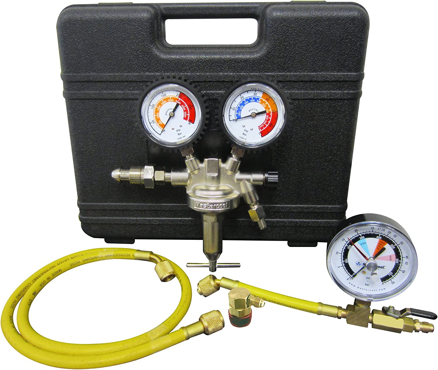 MASTERCOOL (53010-AUT Silver Pressure Test Regulator Kit with R134a Coupler